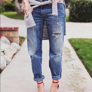 Madewell Distressed Boyfriend Button Fly Jeans